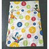 Disney Bedding | Disney Sheet Twin Flat Unisex Mickey Mouse Friends | Color: White/Yellow | Size: Twin