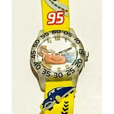 Disney Accessories | Disney Cars 3d Band Time Teacher Watch For | Color: Yellow | Size: Osbb
