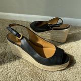Coach Shoes   Coach Hadley Espadrille Wedge Sandal Slingback Sh   Color: Black   Size: 6
