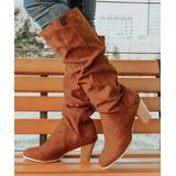 ROSY Women's Casual boots Brown - Brown Slouchy Knee-High Boot - Women