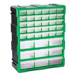 Steel Vision Tool Boxes Black - Black & Green 39-Drawer Interlocking Storage Container