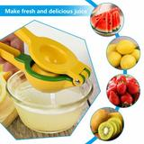 shanglixiansenxinmaoyi Manual Juicer Lemon Lime Squeezer, Easy To Use Hand Press 2-In-1 Fruit Juicer in Yellow, Size 1.97 H x 2.95 W x 8.66 D in