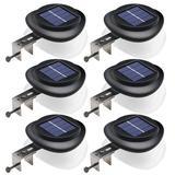 LAKEKYD Solar Gutter Lights Upgraded 9 LED Outdoor Waterproof Fence Post Lights Dark Sensing Auto On/Off Solar Deck Lights For Eaves Garden Backyard Patio