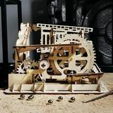 TRUST 3D Wooden Puzzle Mechanical Gears Set DIY Assembly Model Kits Wooden Craft Kits Brain Teaser Games Building Set Best Christmas Birthday Gift For Adult