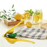 shanglixiansenxinmaoyi Metal Lemon Lime Squeezer, Manual Citrus Press, Hand Juicer, Extracting The Most Juice Possible in Yellow | Wayfair