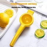 shanglixiansenxinmaoyi Premium Quality Metal Lemon Squeezer, Lime Juice Press, Manual Press Citrus Juicer For Squeeze The Freshest Juice in Yellow