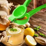 shanglixiansenxinmaoyi Premium Quality Metal Lemon Squeezer, Lime Juice Press, Manual Press Citrus Juicer For Squeeze The Freshest Juice in Green