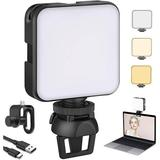 slai 2021 Video Conferencing Lighting Kit, Dimmable & Rechargeable Laptop Webcam Lighting w/ Clip, Cube LED Camera Lights For Zoom Conferencing