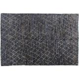 Stark Studio Rugs Kitto Moroccan Handwoven Wool Navy Area Rug Wool/Jute & Sisal in Blue/White, Size 72.0 W x 0.7 D in | Wayfair RUGNO113840A06