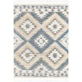 Foundry Select Killen Southwestern Blue/Beige Area Rug Polyester in Blue/White, Size 108.0 W x 1.18 D in   Wayfair 2AA5ABFB6728476892110172E5EEA694