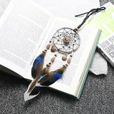 Union Rustic Dreamcatcher Handmade Feather Pendant Wall Decoration, Size 0.39 H x 11.8 W x 4.3 D in | Wayfair 3D116CAE638341CE839B5185EE26A613