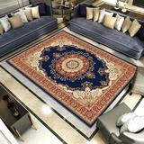 Fleur De Lis Living 5.3X7.6FT Traditional Area Rug Home Oriental Heriz Medallion Persien Carpet Runner Mat Polyester in Blue, Size 80.0 W x 1.0 D in