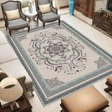 Ophelia & Co. 5.3X7.6FT Traditional Area Rug Home Oriental Heriz Medallion Persien Carpet Runner Mat Polyester in Gray, Size 80.0 W x 1.0 D in