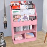 Isabelle & Max™ Children's Wooden 6 Layer Fabric Sling Bookcase in Pink, Size 39.4 H x 24.6 W x 11.8 D in | Wayfair