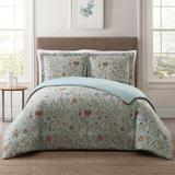 Style 212 Bedford Blue Twin XL Comforter Set by Pem America in Blue Blush (Size KING)