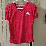 Adidas Shirts & Tops | New Adidas Practice Football Training Red Jersey Shirt Kids L | Color: Red | Size: Various