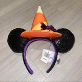 Disney Accessories | Disney Parks Halloween 2020 Witch Sequined Ears | Color: Black/Orange | Size: Os