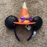 Disney Accessories | Brand New Minnie Witch Headband | Color: Black/Orange | Size: Os
