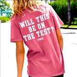 Pink Victoria's Secret Tops   Nwot Pink Will This Be On The Test T-Shirt S   Color: Pink/White   Size: S