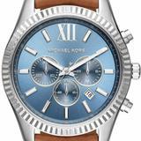 Michael Kors Accessories | New Michael Kors Lexington Men'S Watch | Color: Blue/Brown | Size: Os