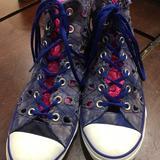 Converse Shoes | Converse Blue Wedge Sandals High Top W 8 | Color: Blue | Size: 8