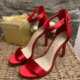 Jessica Simpson Shoes | New Jessica Simpson Satin Red Pumps. Size 6.5 | Color: Red | Size: 6.5