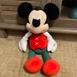 Disney Toys   Christmas Mickey Mouse Stuffed Disney Baby   Color: Green/Red   Size: Osbb