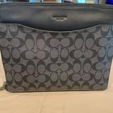 Coach Accessories   Coach Ipad Or Small Lab Top Case   Color: Black/Gray   Size: Os