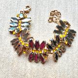 J. Crew Jewelry | J. Crew | Rhinestone Bracelet | Color: Gold/Gray | Size: Os