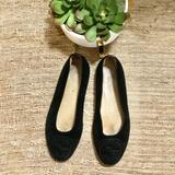 Gucci Shoes | Gucci Vintage Black Suede Ballet Shoes Logo | Color: Black | Size: 5