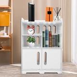 Winston Porter Bedside Tables Cabinet 1 Door Night Stand Storage Furniture Shelf Wood in Brown/Green, Size 21.7 H x 15.8 W x 11.0 D in | Wayfair