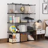 Rebrilliant Wire Cube Storage, Storage Shelves Cube Bookshelf Bookcase Closet Organizer & Storage, Size 49.6 H x 35.4 W x 12.0 D in | Wayfair
