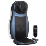 Inbox Zero Massage Chair Pad Shiatsu Neck & Back Massager W/Heat, Full Back Kneading Shiatsu & Rolling Massage in Blue   Wayfair