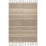 Union Rustic Akinobu Southwestern Handmade Tufted Jute/Sisal/Wool Natural Area Rug Wool/Jute & Sisal in White, Size 60.0 W x 0.39 D in | Wayfair