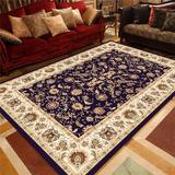Charlton Home® 2.7X4ft Traditional Area Rug Home Oriental Heriz Medallion Persien Carpet Runner Mat Polyester in Blue/Navy/Red, Size 1.0 D in