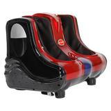 Inbox Zero Foot & Calf Heated Massage Chair Electric Shiatsu Kneading Machine in Red, Size 15.9 H x 16.1 W x 16.5 D in   Wayfair