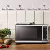 SDPP Digital Microwave Oven w/ Turntable Push-Button Door, Child Safety Lock, 1000W, 1.1Cu.Ft, Stainless Steel, 1.1 Cu.Ft in Black/White | Wayfair