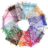 OLO 100PCS Organza Gift Bags Drawstring Gift Bags Jewelry Pouches Mesh Favor Bag For Valentines Wedding Party Christmas | Wayfair OLOeb1bfa4