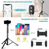 ATS Phone Tripod Accessory Kits, Camera & Cell Phone Tripod Stand w/ Wireless Remote & Universal Tripod Head Mount in Black | Wayfair ATSb17e927