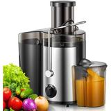 """Love life Juicer Machine, 500W Centrifugal Juicer Extractor w/ Wide Mouth 3"""" Feed Chute For Fruit Vegetable, Easy To Clean, Stainless Steel in Gray"""