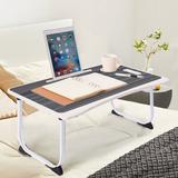 Inbox Zero Folding Computer Desk Multifunctional Portable Table Lazy Breakfast Table in Black, Size 11.0 H x 15.7 W x 23.6 D in   Wayfair