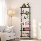 Rebrilliant 6-Tier Storage Shelf Wire Shelving Unit, Adjustable Heavy Duty Storage Shelves For Kitchen Organization(21.26 Lx12 Wx69 H) in Black