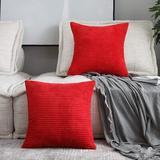 Everly Quinn Pillow Covers Christmas Striped Plush Velvet Corduroy Decoration Euro Throw Pillow Sham Cushion Cover For Couch Sofa Floor   Wayfair