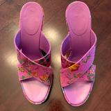 Gucci Shoes   Gorgeous Gucci Purple Flora Cyclamin Cross Sandals   Color: Pink/Purple   Size: 8