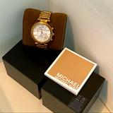 Michael Kors Accessories | Michael Kors Diamond Rose Gold Watch | Color: Gold/Pink | Size: Os