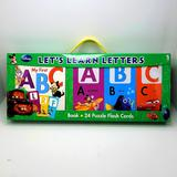 Disney Toys | Disney | Alphabet Learning Flash Cards + Book | Color: Green/Red | Size: Osbb