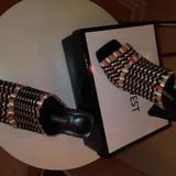 Nine West Shoes | Nine West Black Multicolor Open Toe Mule 9.5m | Color: Black/White | Size: 9.5