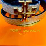 Tory Burch Jewelry   Double Wrap Tory Burch Reversible Bracelet   Color: Black/Tan   Size: Os