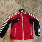 Adidas Jackets & Coats   Kids Adidas Soccer Size Medium Warmup Jacket   Color: Black/Red/White   Size: Mg