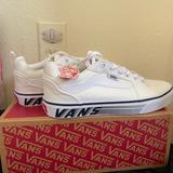 Vans Shoes   Nib, Men'S 7 Vans Wh Filmore Canvas Skate Sneakers   Color: White   Size: 7